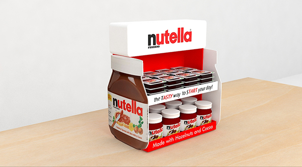 Nutella Counter Top Display On Behance