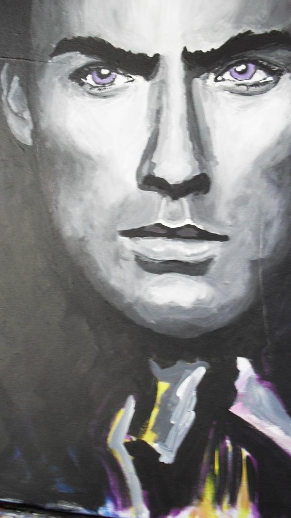 acryl portrait blackwhite