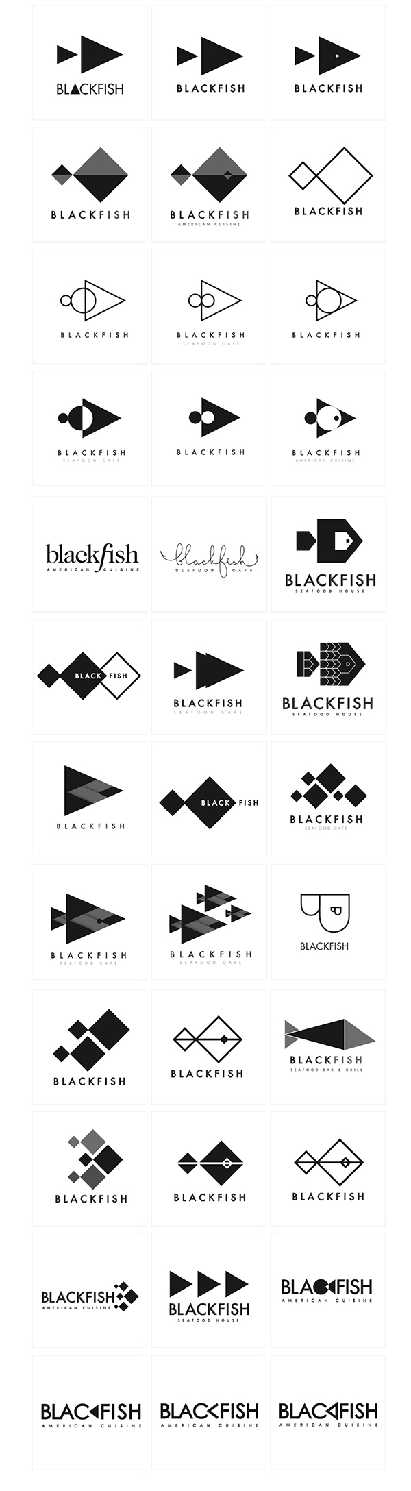 Blackfish seafood house branding on behance for Stillwater fish house menu