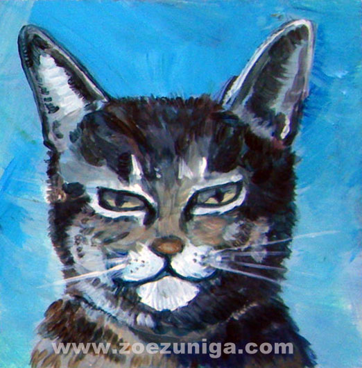 Ralph The Jazz Cat, portrait by Zoe Zuniga