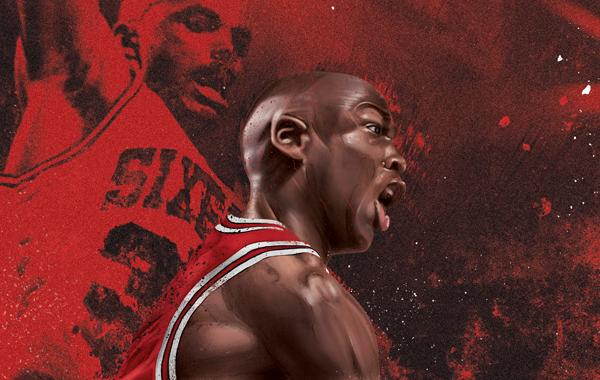 michael jordan airjordan jump basketball NBA legend dunkin bulls wacom