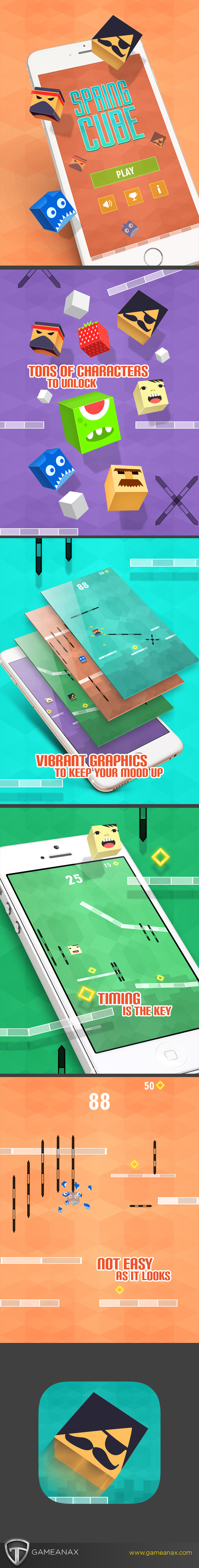 UI ux Buildbox game gamedesign graphics design ios android characters