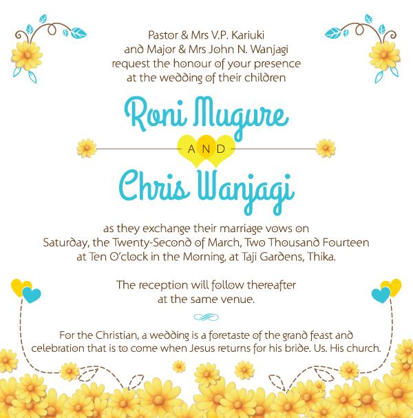 M&W Wedding Invite