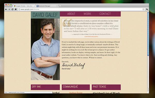 Author Book Author personal site portfolio books Professor