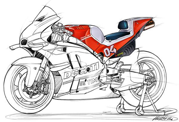 Ducati Desmosedici Gp Sketch On Wacom Gallery