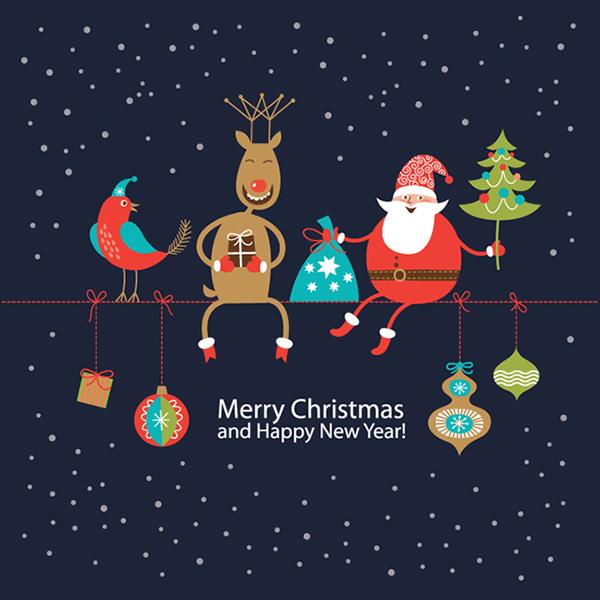 Открытки с merry christmas and happy new