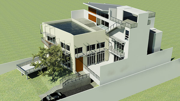 These are 3d images and model photos of a proposed house which is still at design stage the house sits on a 40 perch land and covers a total floor area of