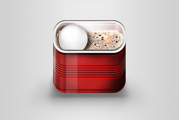 ios Icon beer beer-pong drink game plastic cup application icon