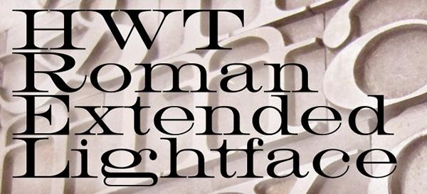 HWT Roman Extended Woodtype Digitization on Behance