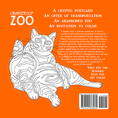Orangeroof Zoo Coloring Book for Adults - Back Cover on Behance