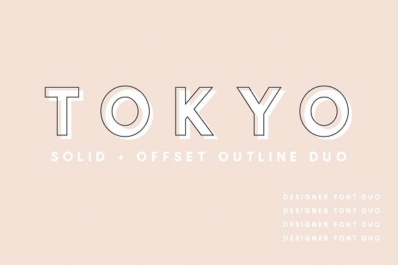 Tokyo | A Designer Font Duo by Jen Wagner Co on Behance
