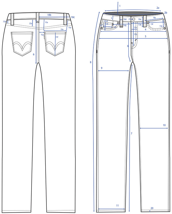 Jeans Technical And Spec Flats On Scad Portfolios