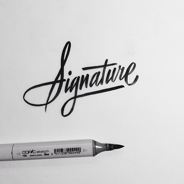 Brush lettering collection no on behance