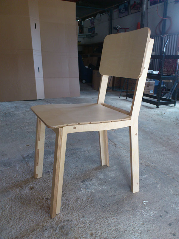 plywood cnc chair dovetail Dowel Kerf curve digital fabrication furniture