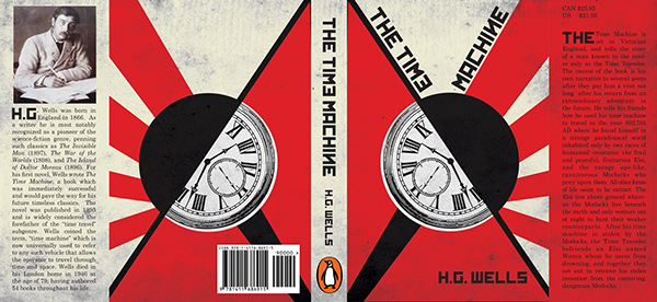 How To Make A Book Cover In Illustrator : Constructivist book cover the time machine on behance