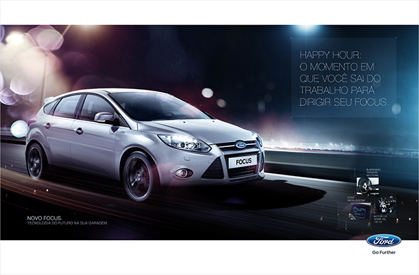 Ford Focus automotive   car tv spot poster night interactive site integrated campaign
