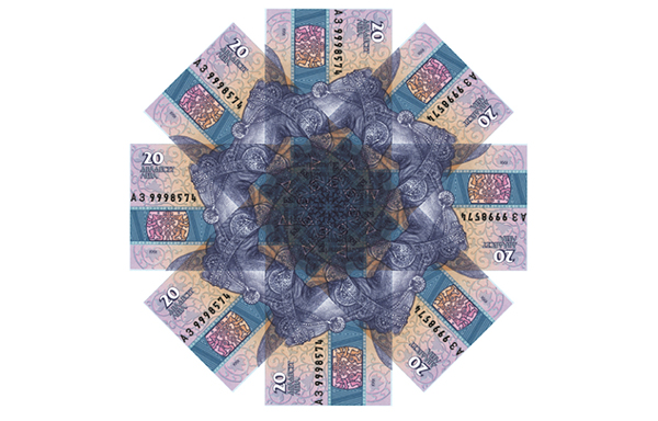 banknotes Patterns color money