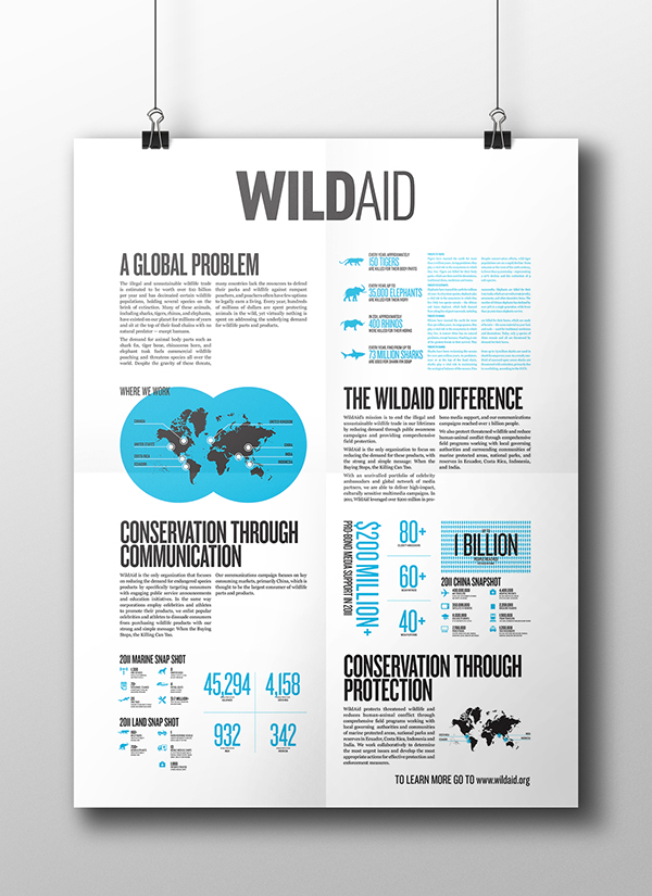 wildaid informative poster on student show