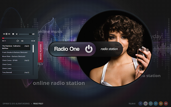 Radio One - Radio Station HTML5 Template 300111662 on Behance