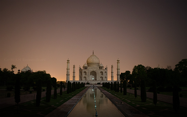 Tajmahal At Night On Behance