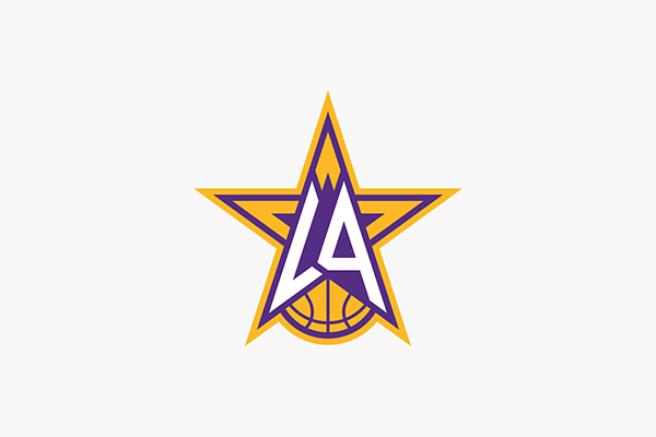 Los angeles lakers identity on aiga member gallery los angeles lakers secondary logo concept voltagebd Images