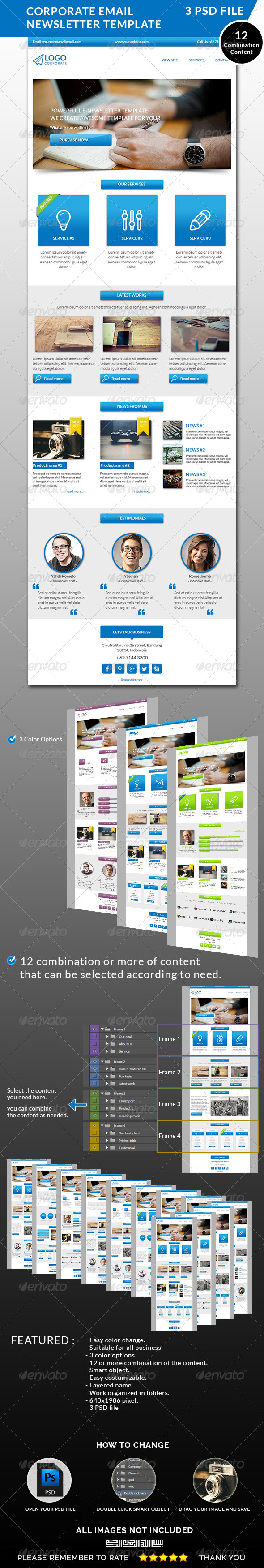 Corporate Email Newsletter Template On Behance