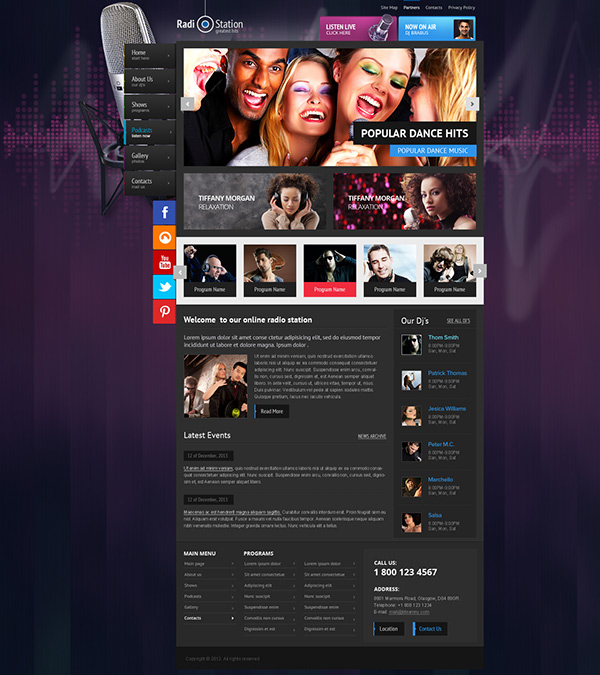 Radio Station Wordpress Theme on Behance