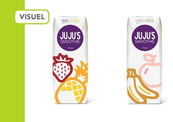 angellopez print packa smoothie jus ju ju's ILUS logo Logotype Fruit