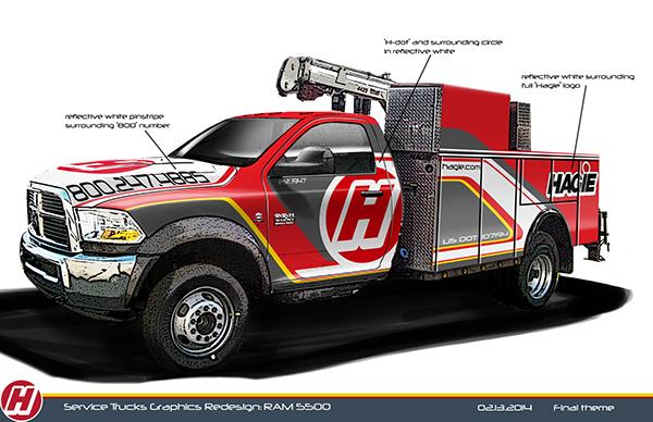 Hagie Service Truck Graphics On Ccs Portfolios