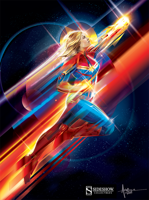 Thank You For Your Order >> OFFICIAL CAPTAIN MARVEL PRINT/ Vector art on Wacom Gallery
