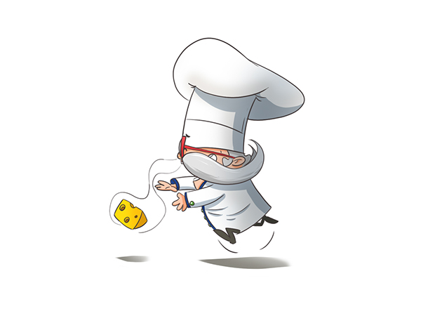 chief  Cook koniu Character kitchen cooking Cheese football poland