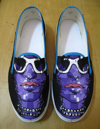 acrylic on shoes on behance