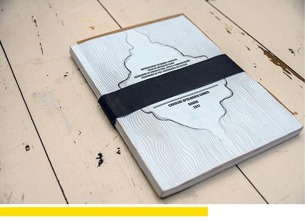 Livro impresso para dissertação em Design
