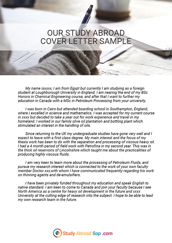 Study Abroad Statement of Purpose Example on Pantone Canvas ...