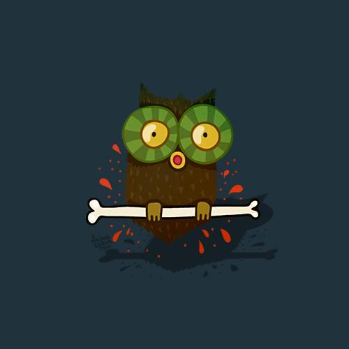 skull bones Halloween Fun Holiday horror owl