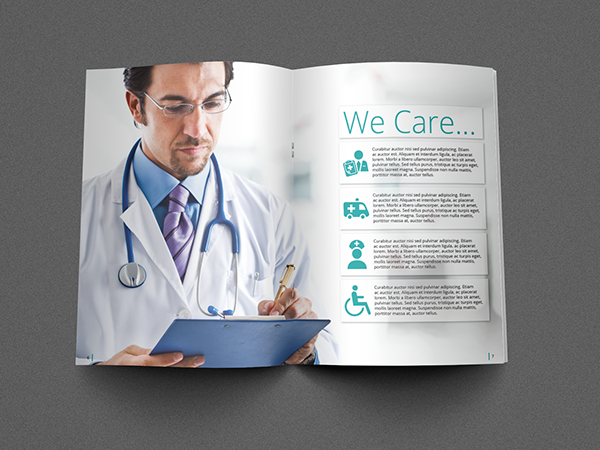medical brochure template on pantone canvas gallery