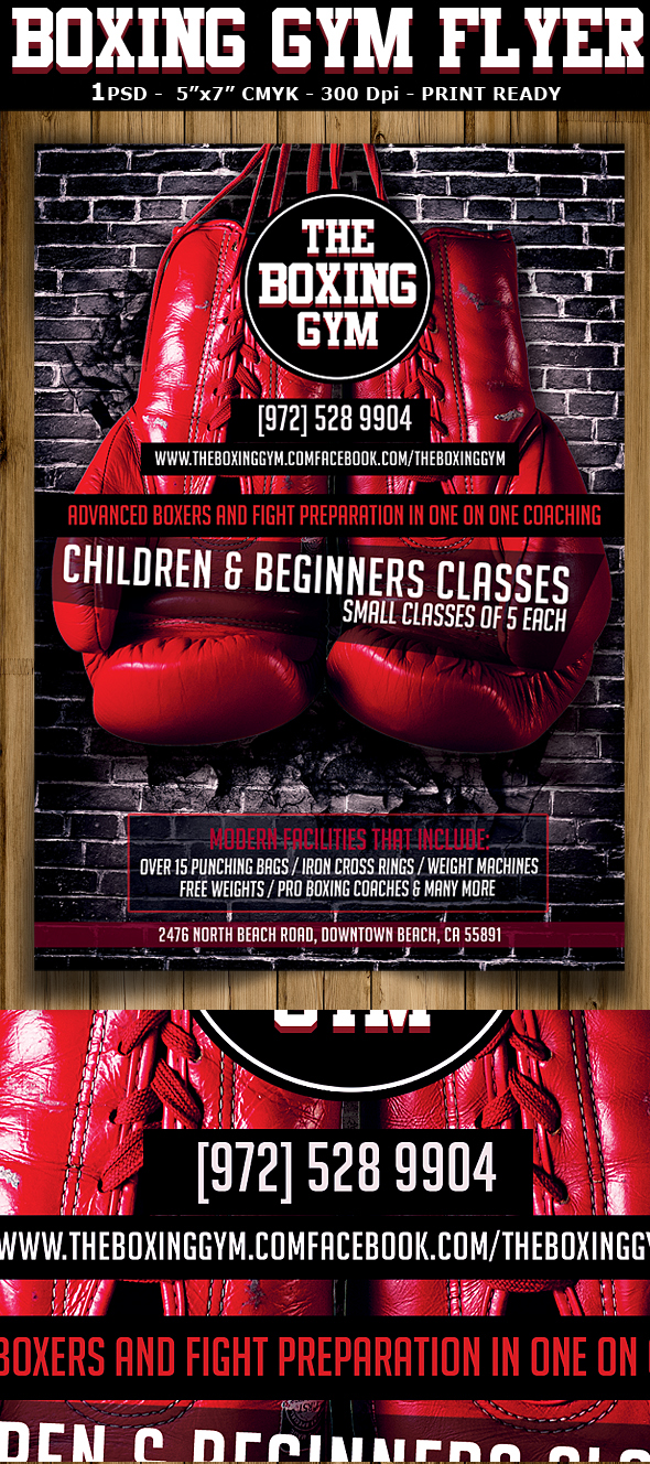 Boxing Gym Flyer Template On Behance