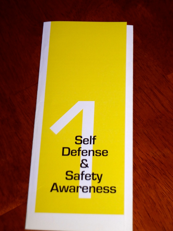 Self Defense Brochure Self Defense Brochure on