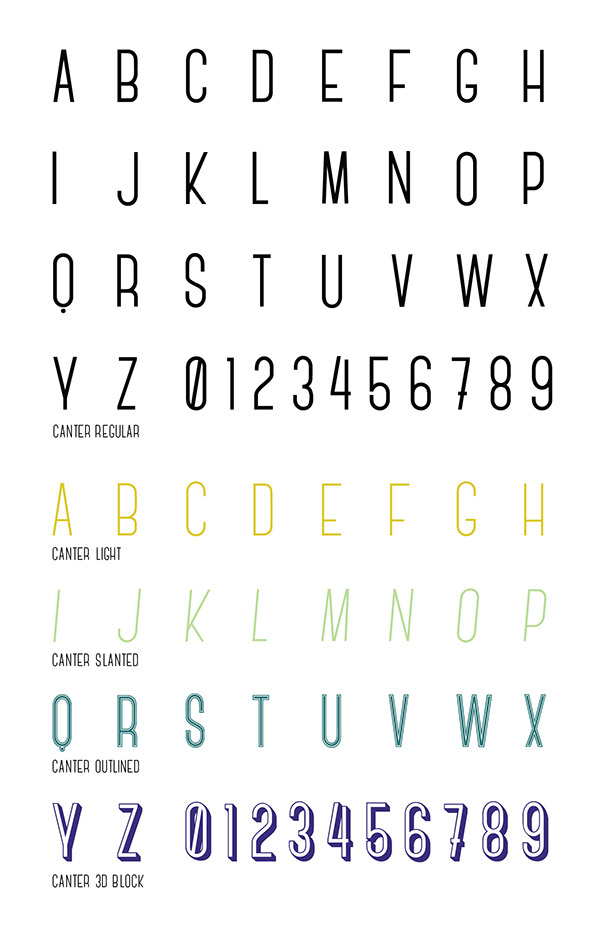 condensed FontLab Canter Typeface type type design all caps Free font