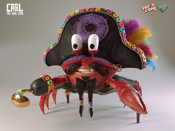 Carl The king Crab by Pedro Conti