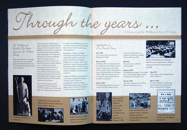 souvenir program template - church 50th anniversary book on behance