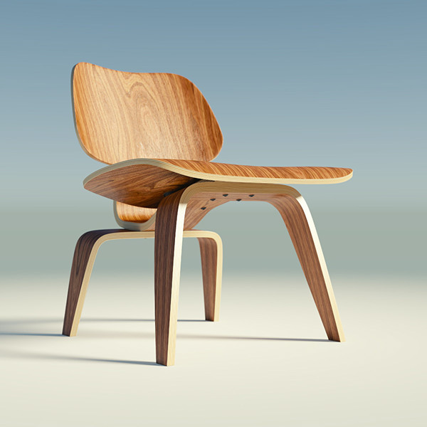 eames lounge chair wood lcw on behance