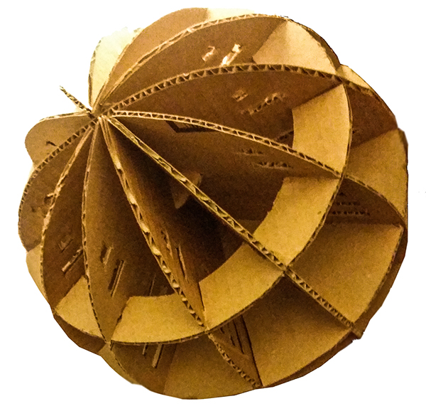 how to make a 3d sphere out of cardboard