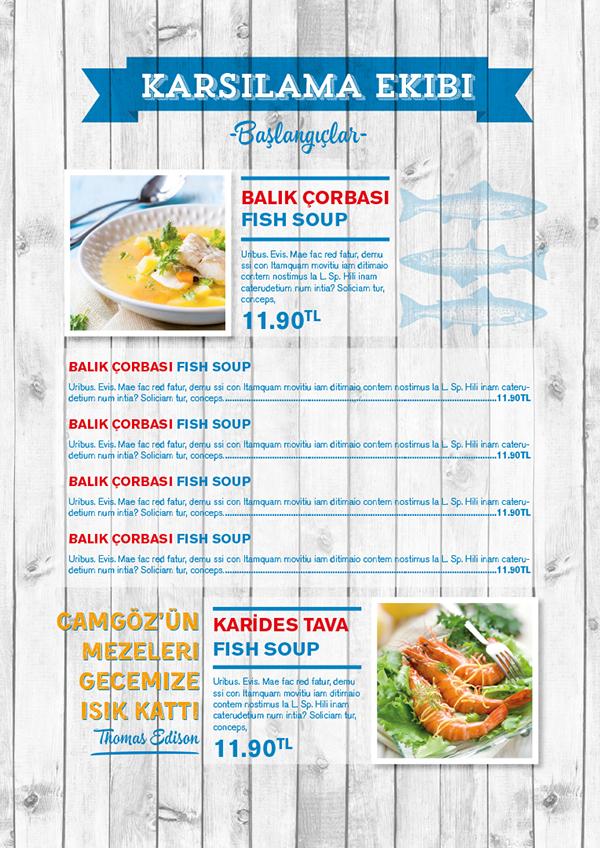 Camg z fish restaurant menu on wacom gallery for Stellas fish cafe menu