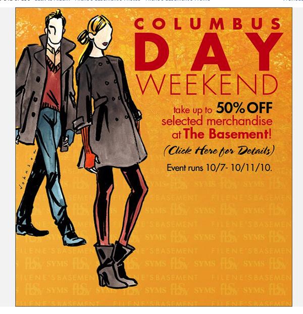 Advertising Fashion Illustration For Filene's Basement On