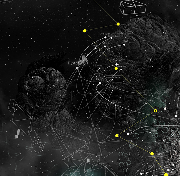 drfranken nastplas 3D stars digital mixed media Alpha omicron