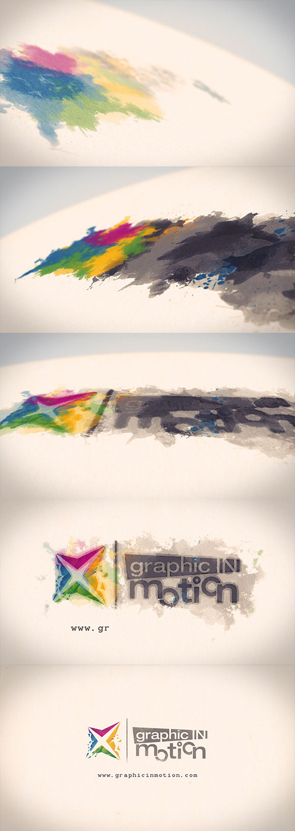 Watercolor Ink Logo Reveal After Effects Template on Behance