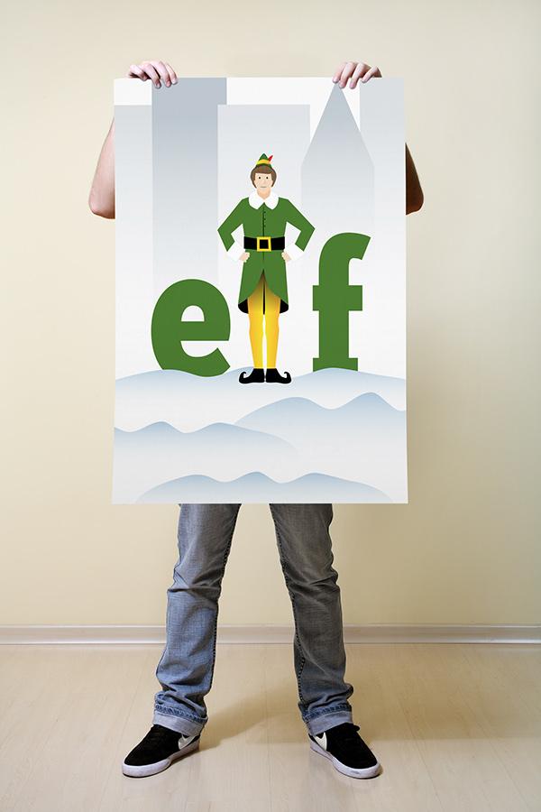 Elf - movie poster on Wacom Gallery