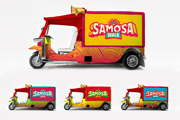 Samosa wala on behance for Food truck design app