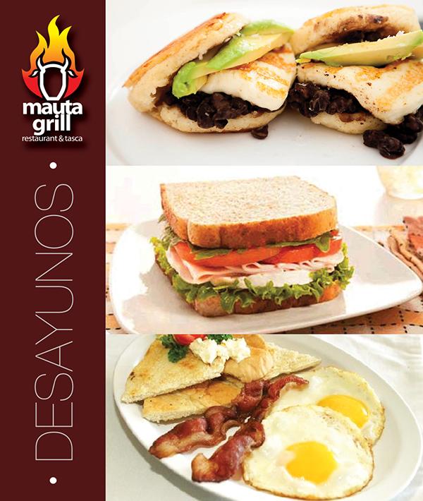 mauta grill breakfast flyer on behance